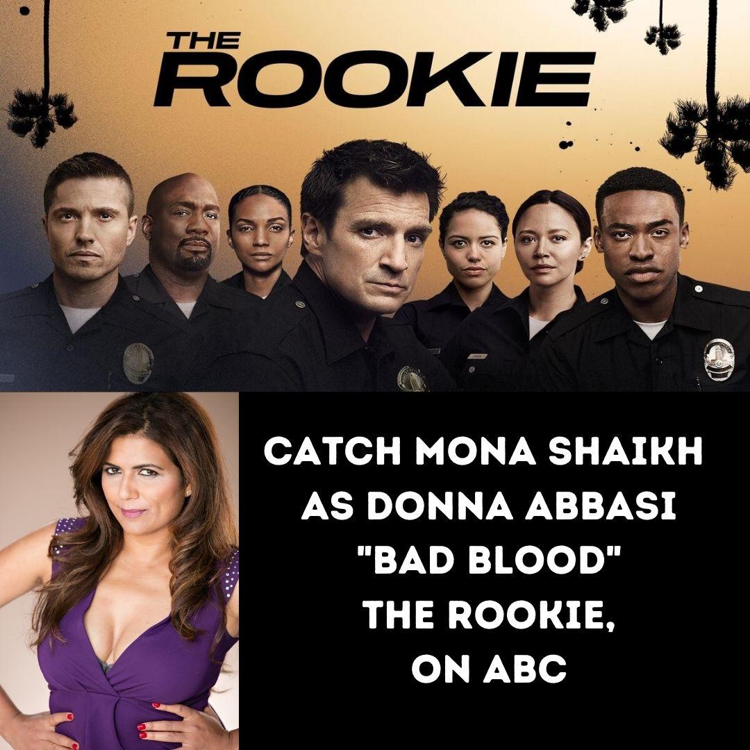 Catch Mona Shaikh as Donna Abbasi on The Rookie (ABC)